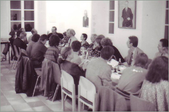 long table at which Groddeck used to hold his wednesday lectures